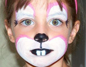 bunny face paint Animal Faces Pinterest Bunny face paint and
