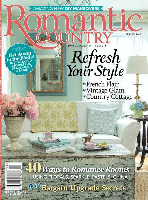 A Gilded Pink Toile Christmas Table Romantic Country Country Magazine Shabby Chic Style