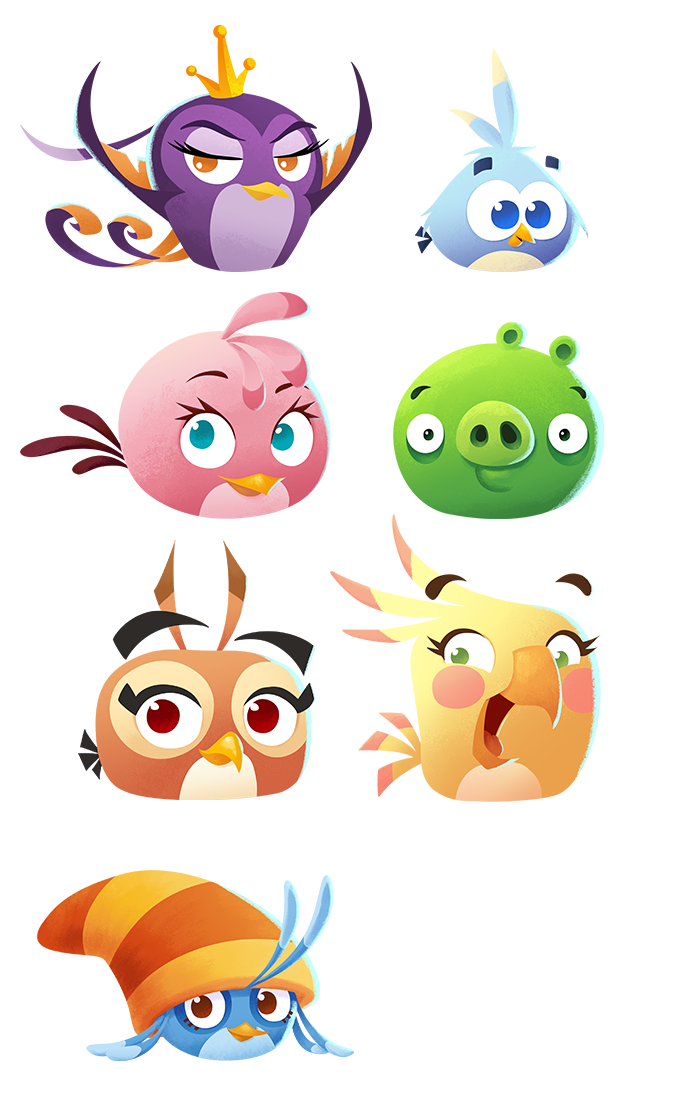 Lead Artist for Angry Birds Stella POP! game project | Print