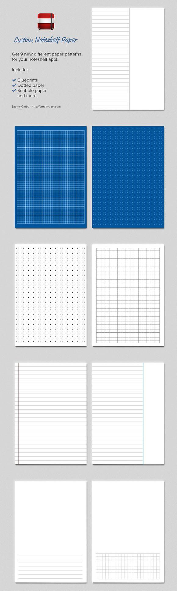 noteshelf custom paper templates