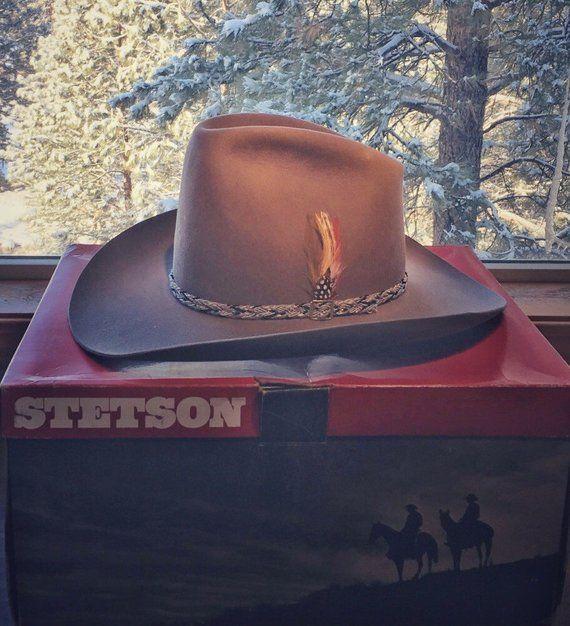 Stetson Cowboy Hat-Vintage Stetson-Vaquero Style Stetson-Felt-7 1 8