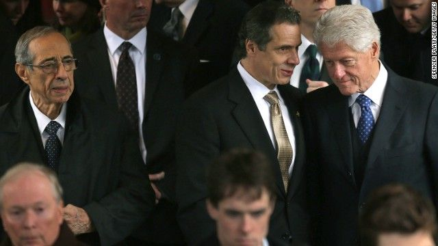 """Cuomo and Clinton: A complicated, but mutually beneficial, relationship - """"E.T. says: (E.T. & the gang says this: New York? You've lost a great former New York state governor & family man. And he stood firm by his Italian roots. He was truly a great former New York governor & man. Rest in Peace, governor Mario Cumo. We send our regards to his two sons & the rest of his family. =/)"""""""
