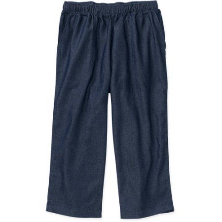 1769fa896f3d9 White Stag - Women's Pull-On Elastic Waist Denim Capri Leggings, Blue