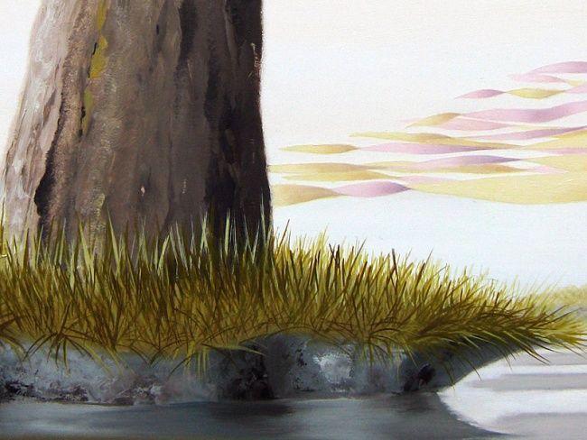 Araucaria velum detail - Peinture,  120x80 cm ©2008 par Patricia Van Lubeck -