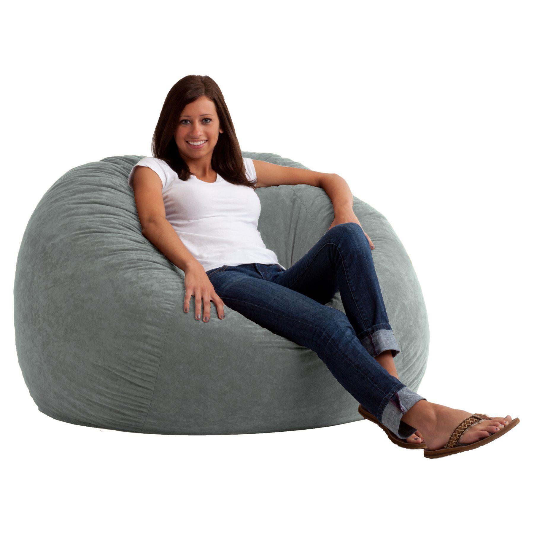 Brilliant Fuf 4 Ft Large Comfort Suede Bean Bag Lounger 0010176 Dailytribune Chair Design For Home Dailytribuneorg