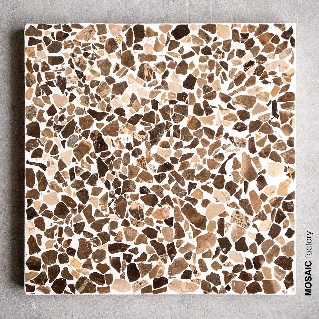 Brown Terrazzo Tile With Shifting Shades From Beige To