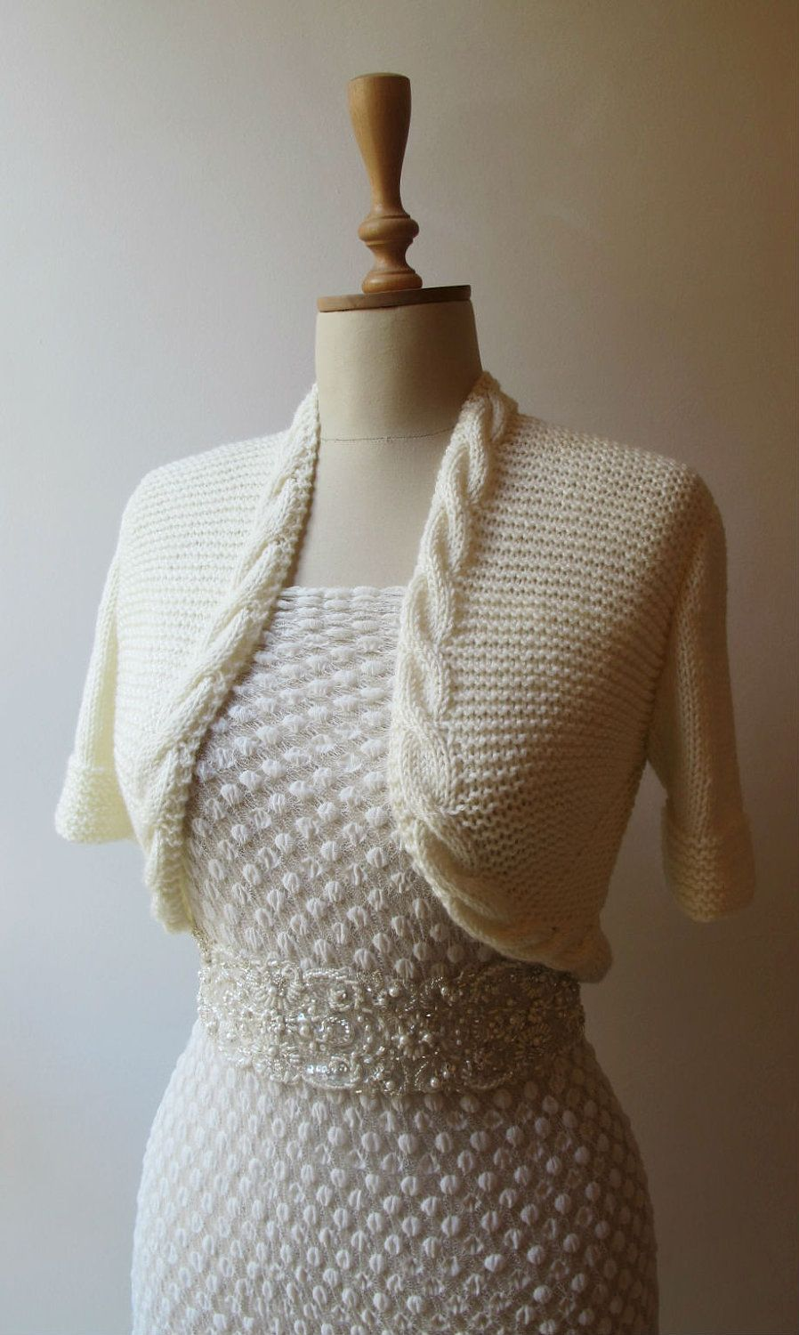 Bridal Bolero Wedding Shrug Jacket Made to Order. $95.00, via Etsy ...