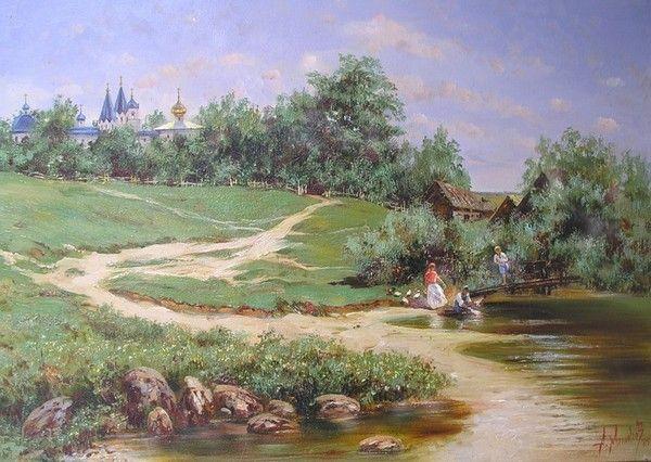 Paysage en peinture d 39 alexandre milyukov beaux paysages for Paysage peinture