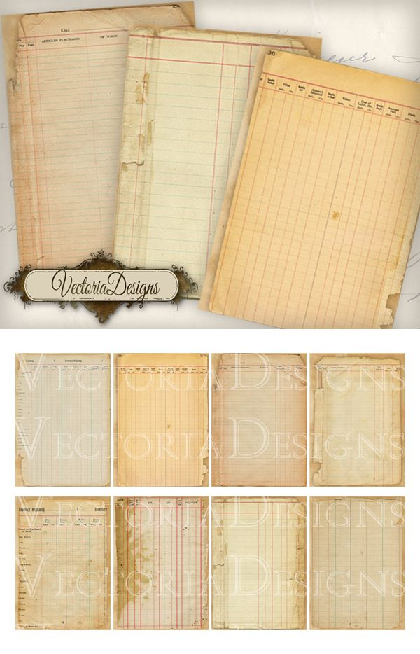 Printable Ledger ATC images VectoriaDesigns Crafting Printables - printable ledger