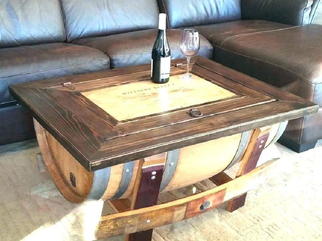 14+ Whiskey barrel coffee table plans inspirations