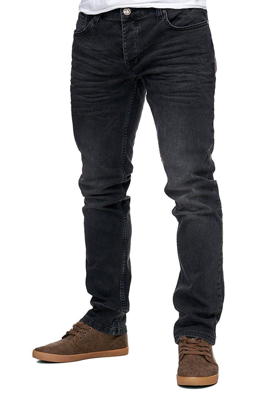63667759c87ab6 Reslad Jeans-Herren Slim Fit Basic Style Stretch-Denim Jeans-Hose RS-2063  Schwarz W29   L32  Amazon.de  Bekleidung