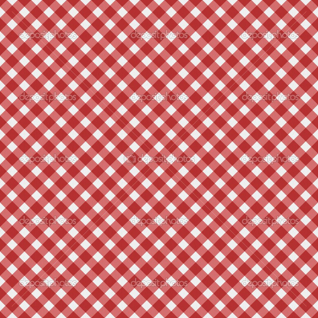 gingham fabric Red Gingham Fabric Background — Stock
