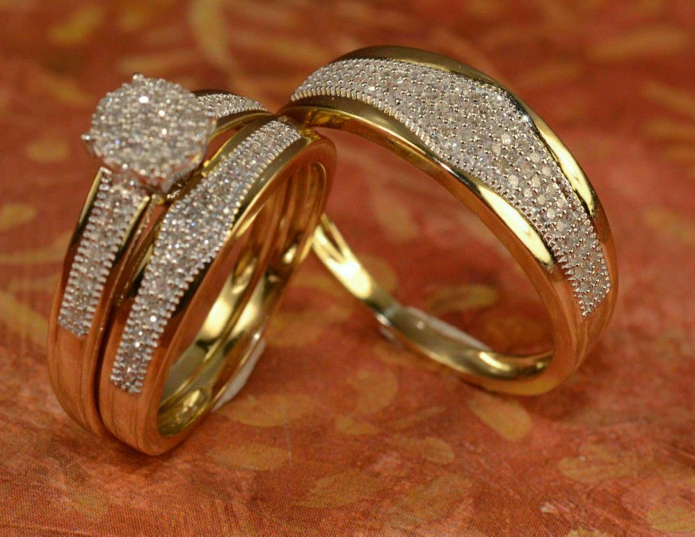 46++ Yellow gold wedding ring sets for her info