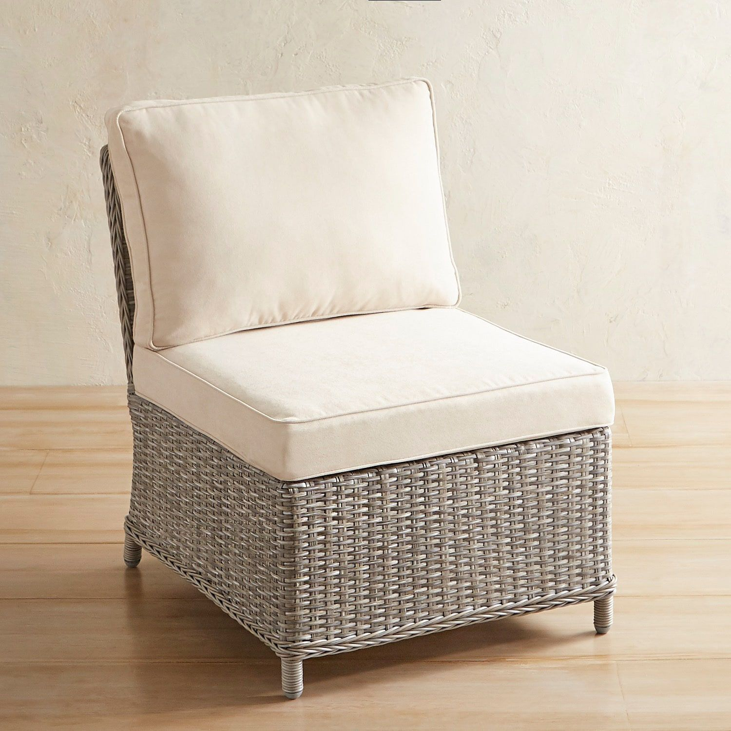 Newport Gray Armless Chair Patio Furniture Chairs Ottomans