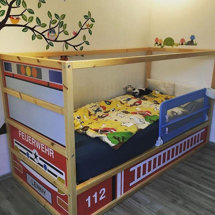 Dekorationsfolie Feuerwehrbett für IKEA KURA Hochbett mit