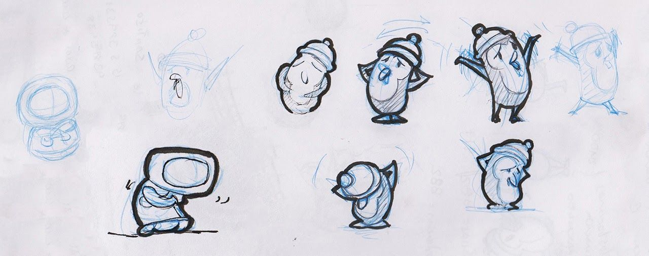Planning sketches by Lisette Freire for the animation spot Super Pollo
