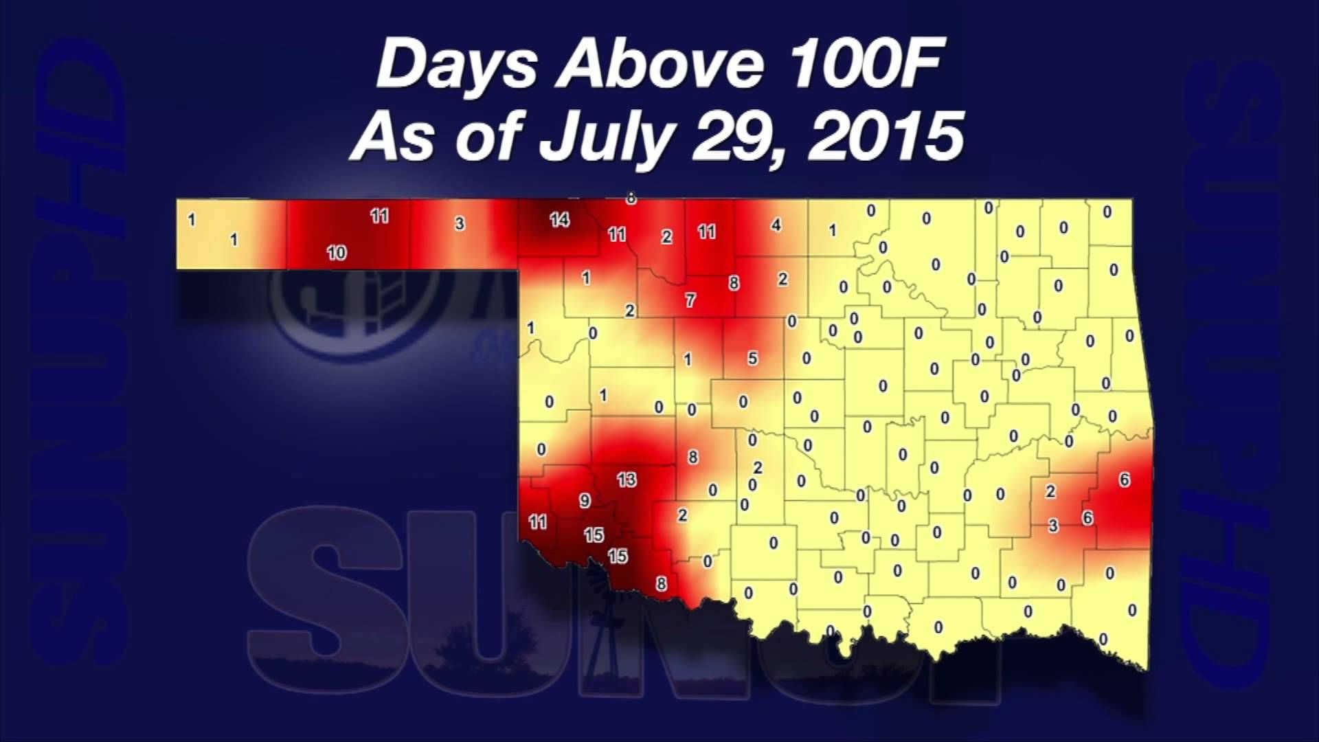 Al Sutherland show where temperatures may become dangerous for cattle.