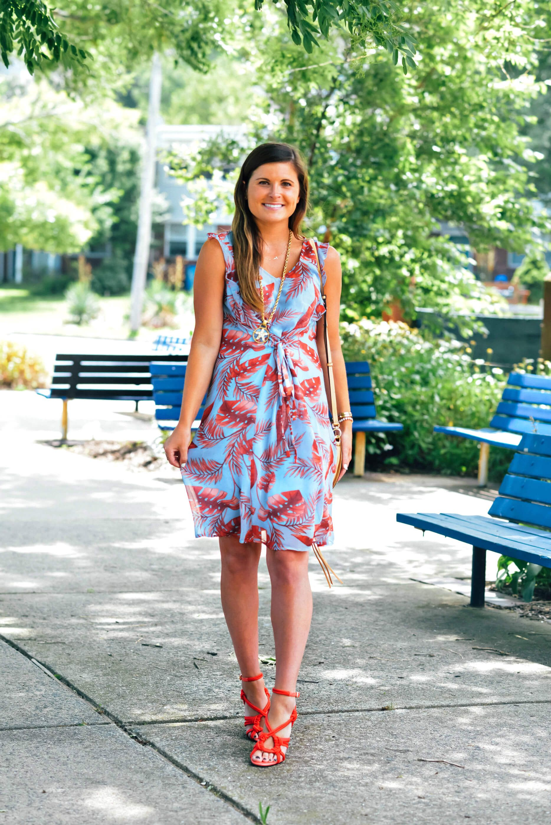 Wrap Star To Be Bright Bright Summer Outfits Tropical Print Dress Print Dress