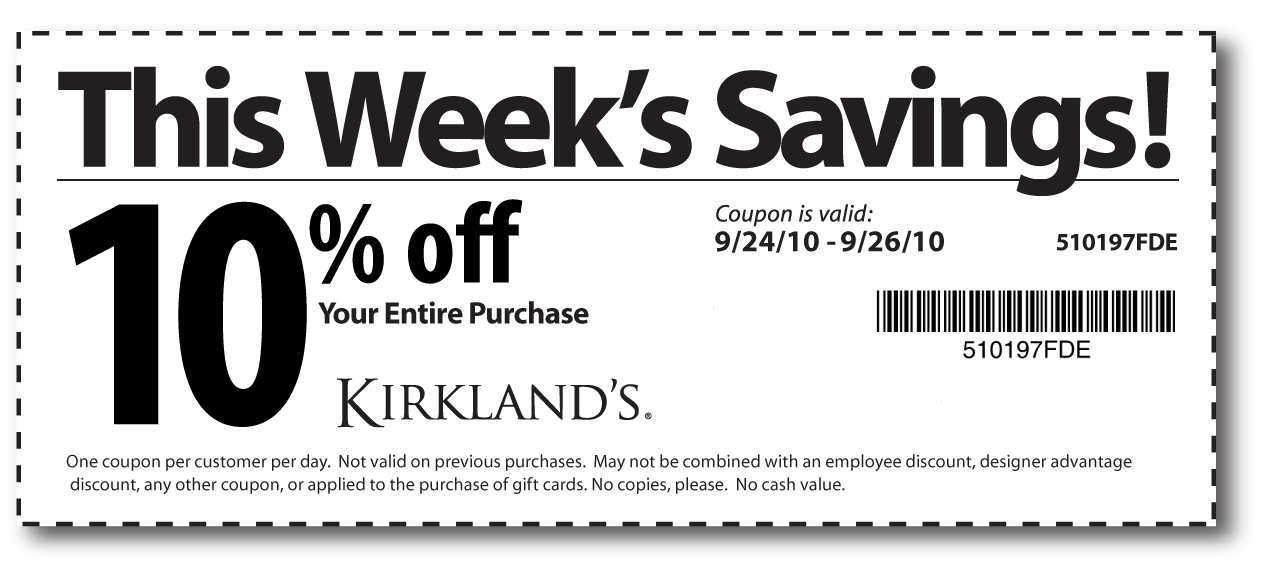 Free printable   Kirklands Coupons. Kirklands Coupons   The Kirklands Hotel makes an ideal base for