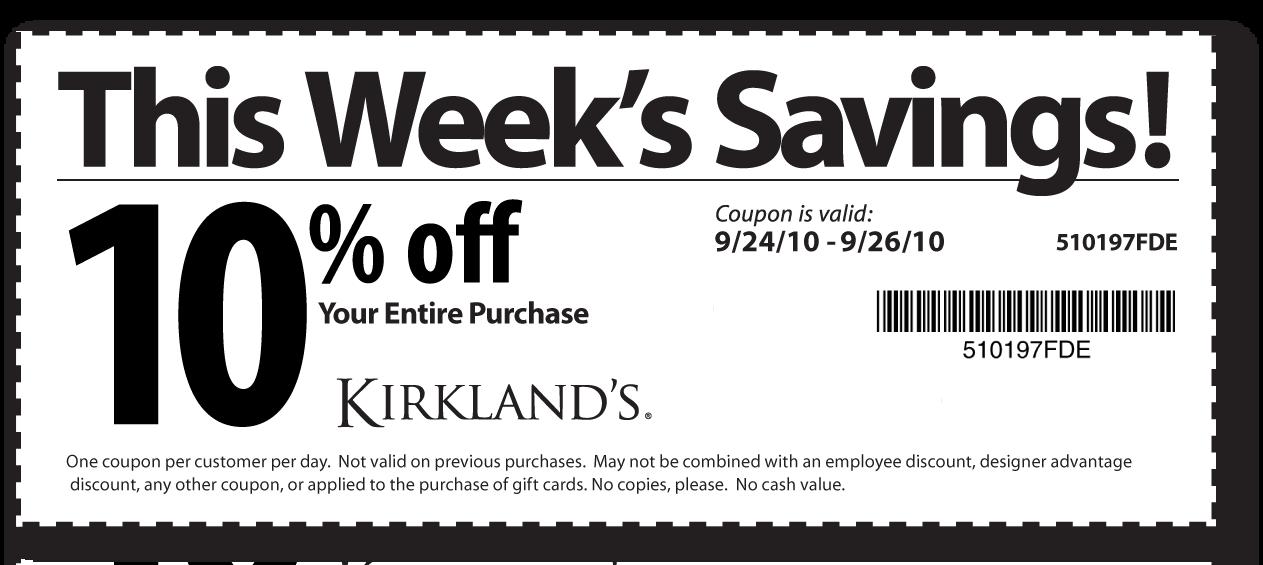 Free printable   Kirklands Coupons. Kirklands Coupons   The Kirklands Hotel makes an ideal base for