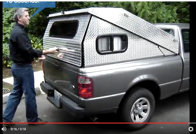 camper tonneau cover Small truck camper, Truck bed