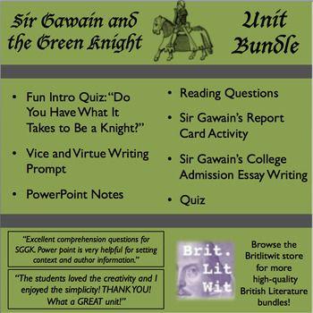 Sir gawain essay