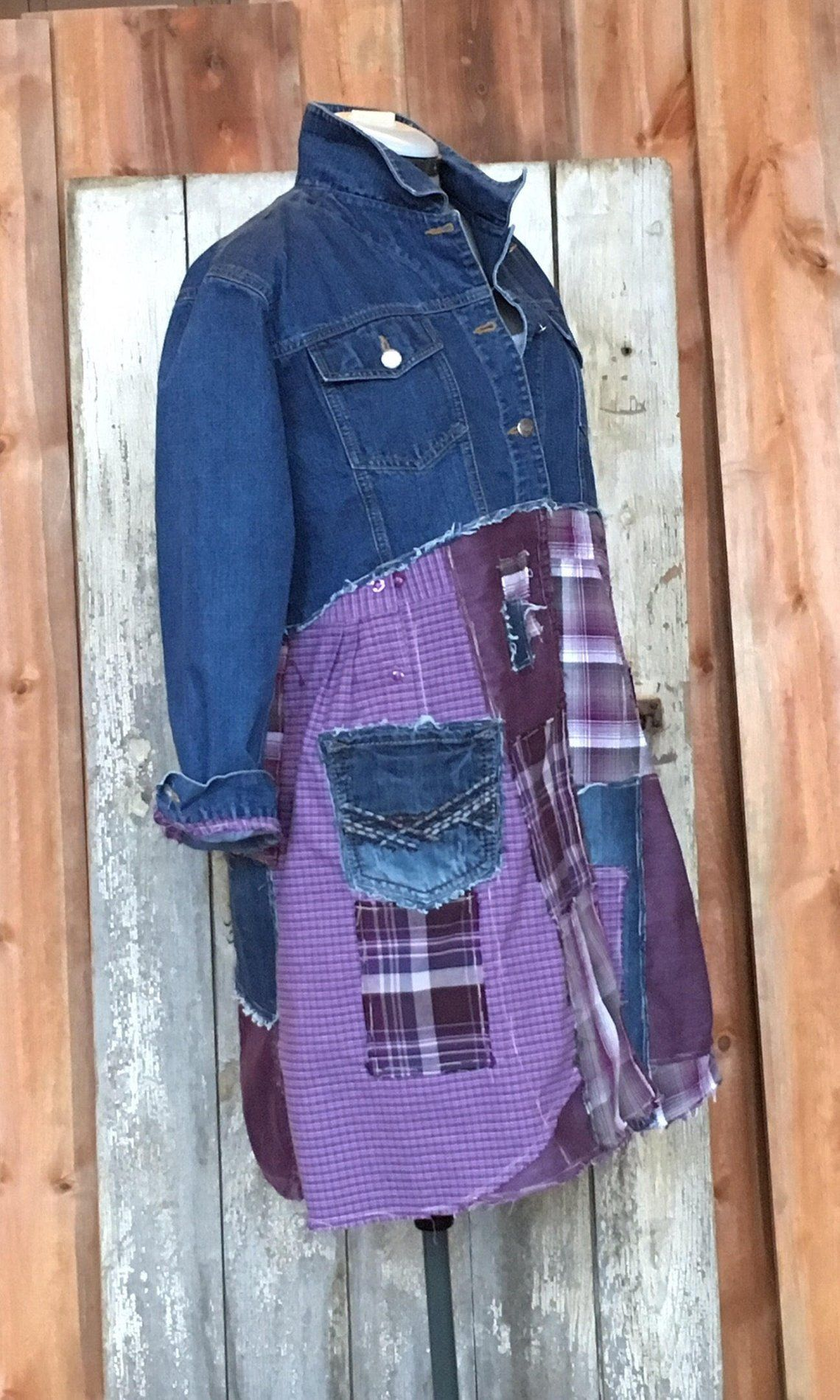 SOLD to PEGGY: Boho Jacket | Shabby Chic|Gypsy Jacket | Reclaimed Clothing|Farmhouse Jacket|Bohemian |Boho Cute Clothes |Remix Clothing