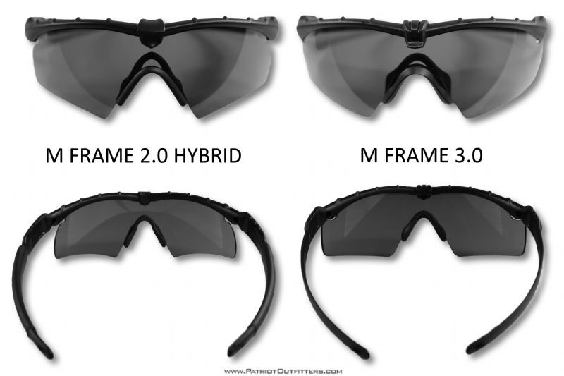 The difference between an Oakley M Frame 3.0 and M Frame 2.0 Hybrid