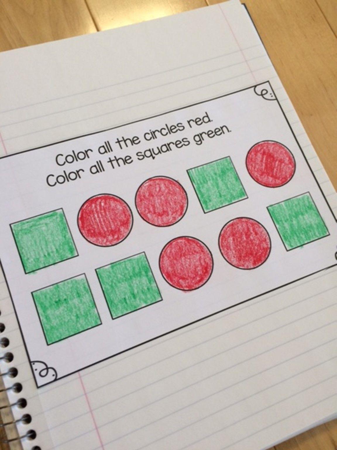September Preschool Math Journal Math Journals Preschool