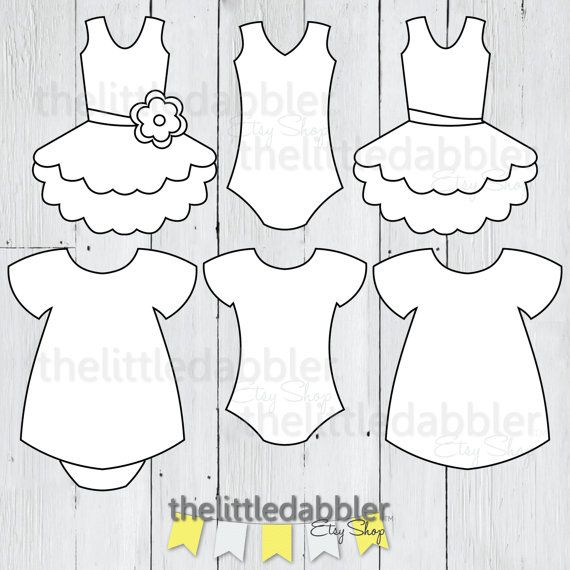 dress and tutu templates baby shower girl onesie dress banner