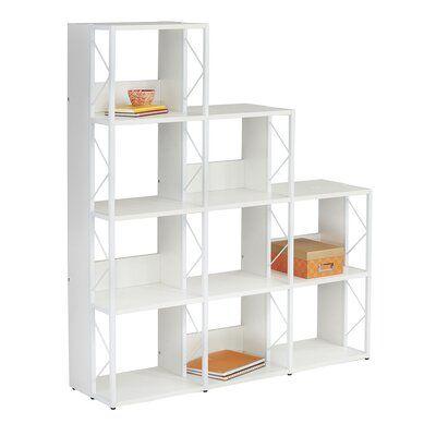 Winston Porter Aesir Step Bookcase Shelves Bookcases For Sale