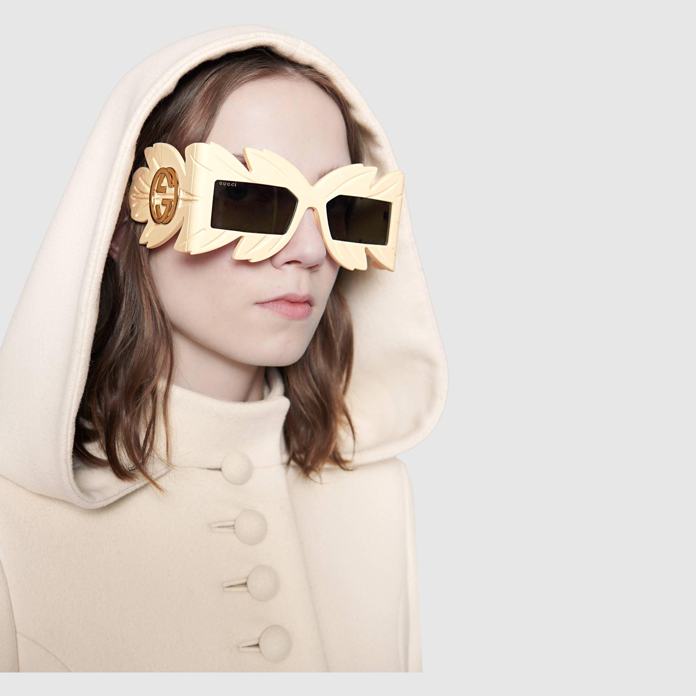 458590de58 Mask-frame acetate sunglasses - Gucci Women s Square   Rectangular  543939J07409211