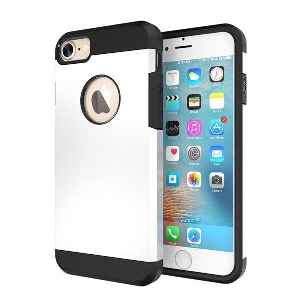 FLOVEME Hybrid Case For Iphone 7 Luxury Hard PC Armor Back Cover For Apple Iphone 7 Plus Cases 6S Plus 5S With LOGO Hole Coque