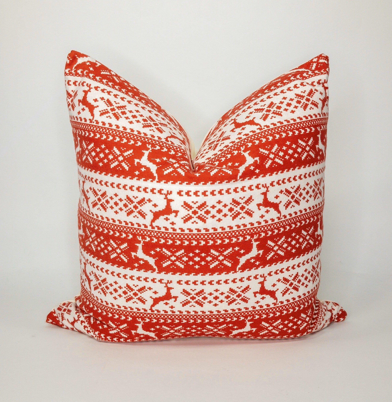Christmas Pillow Throw Pillow Holiday Pillow