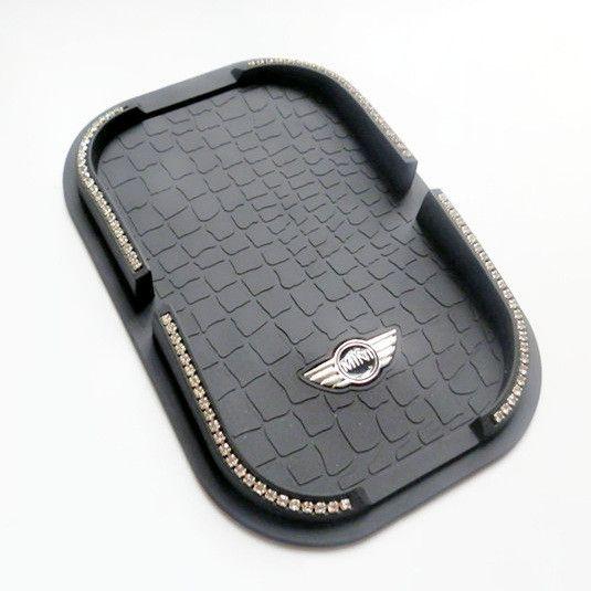Car Dashboard Anti Slip Mat Mobile Phone Holder For Mini Cooper Jack Union Racing Check Mini Cooper Accessories Mini Accessories Girly Car Accessories