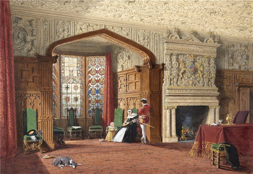 Joseph Nash (British, 1808-1878) .An Elizabethan Room at Lyme Hall, Cheshire