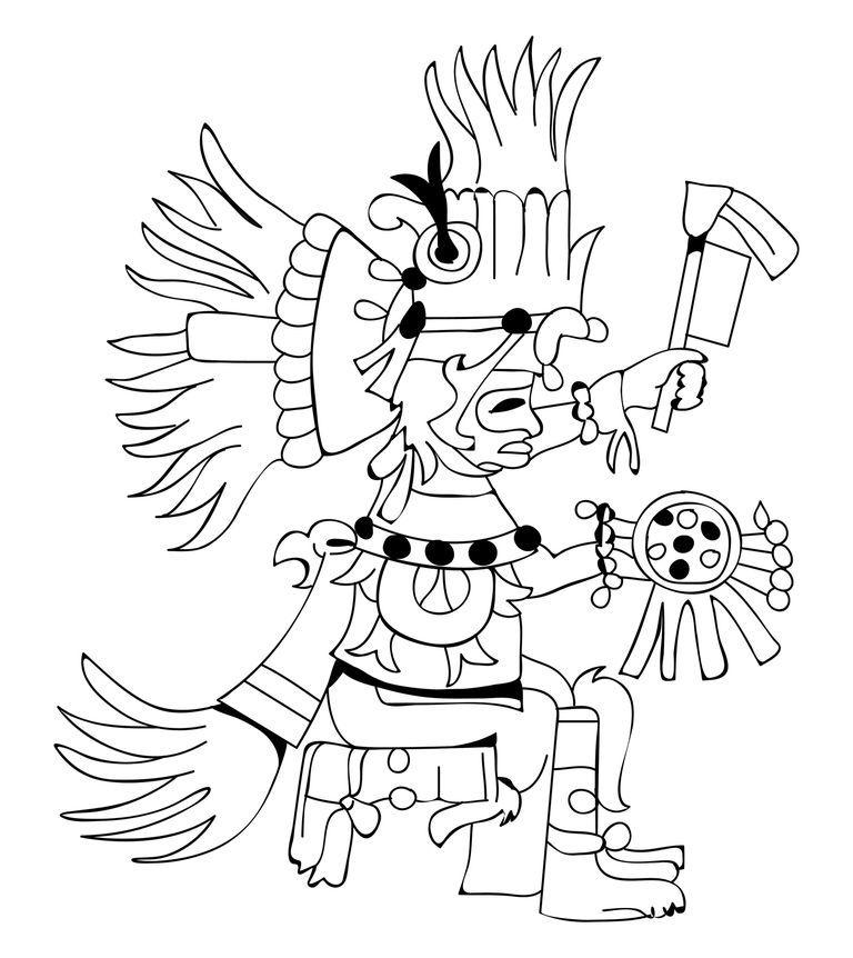 Buluc Chabtan Mayan God Of War With Images Mayan Art Aztec