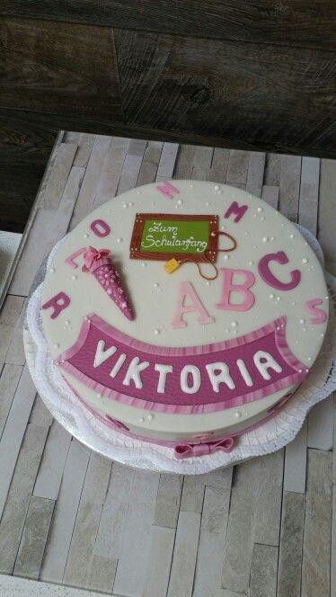 Torte zum Schulanfang  Einschulung  Torte einschulung Kuchen einschulung und Motivtorten