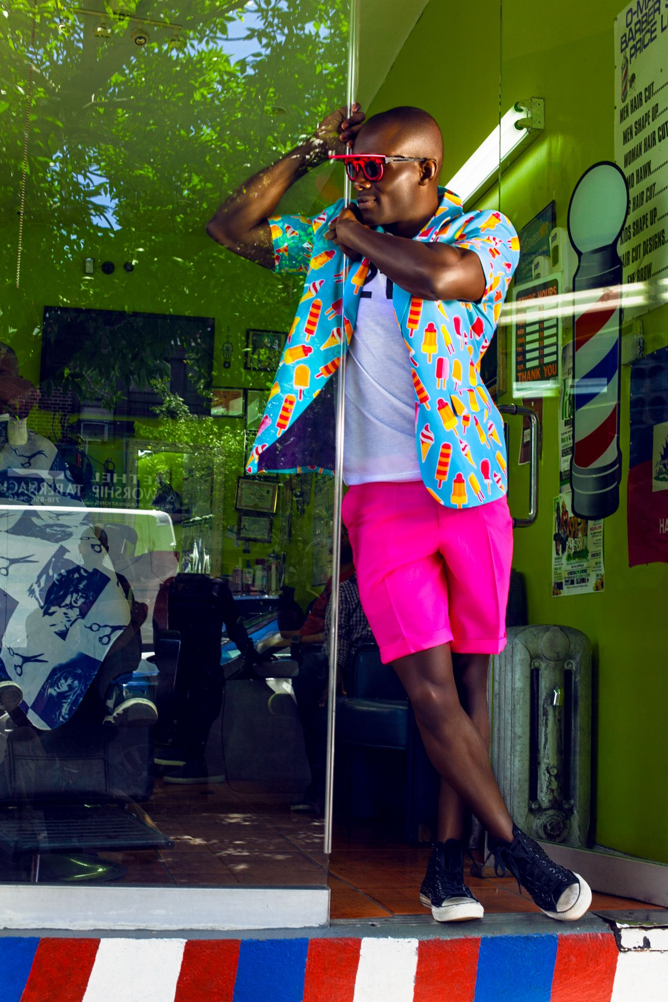 Summer fashion editorial from Heed Magazine. Model : Wilnor Tereau / Photography : Francesca Andre / Photo assistant : Gustavo Torres.