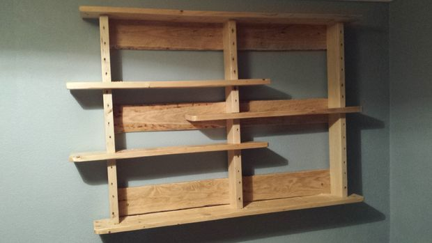 Picture of Pallet Shelves.  no big tools