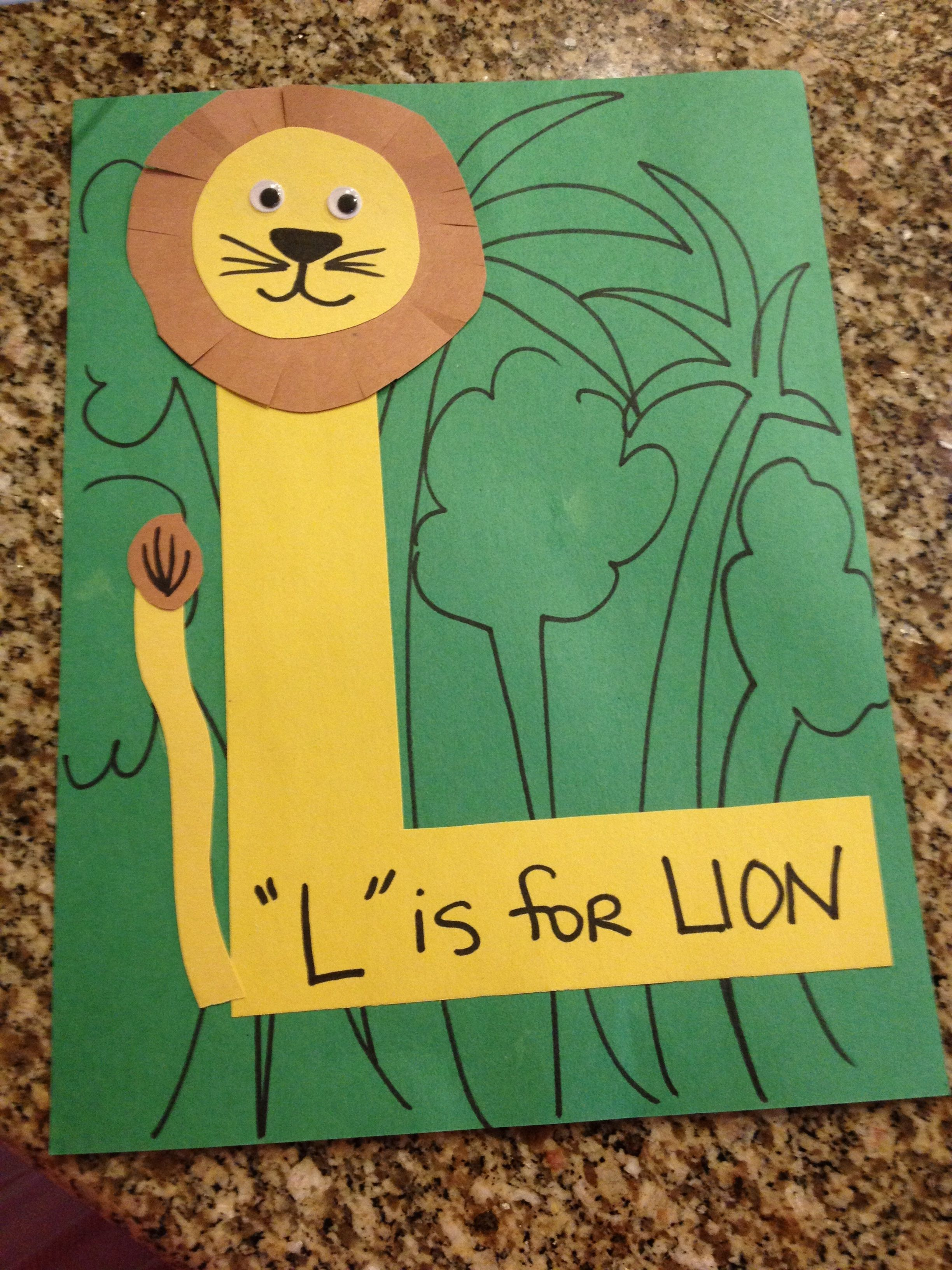 L Is For Lion Letter Activity