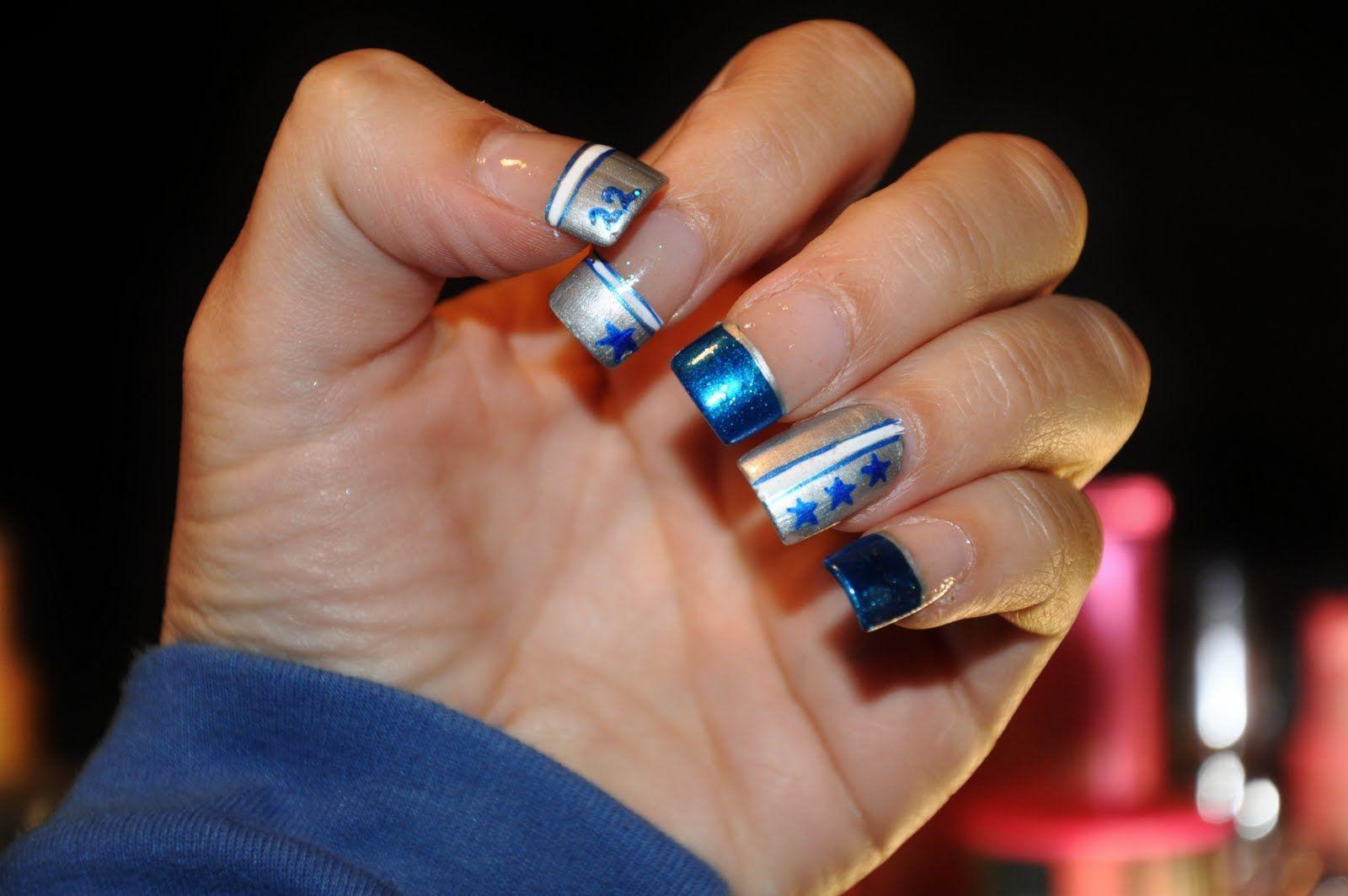 Dallas Cowboy Nail Art Hair And Stuff Dallas Cowboys Nails