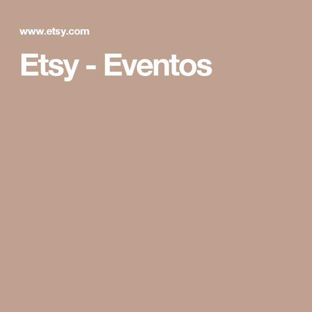 Etsy - Eventos