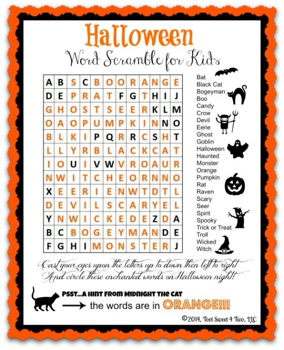 ghosts goblins and ghouls 42 frighteningly unearthly creatures that haunt halloween - Halloween Word Game