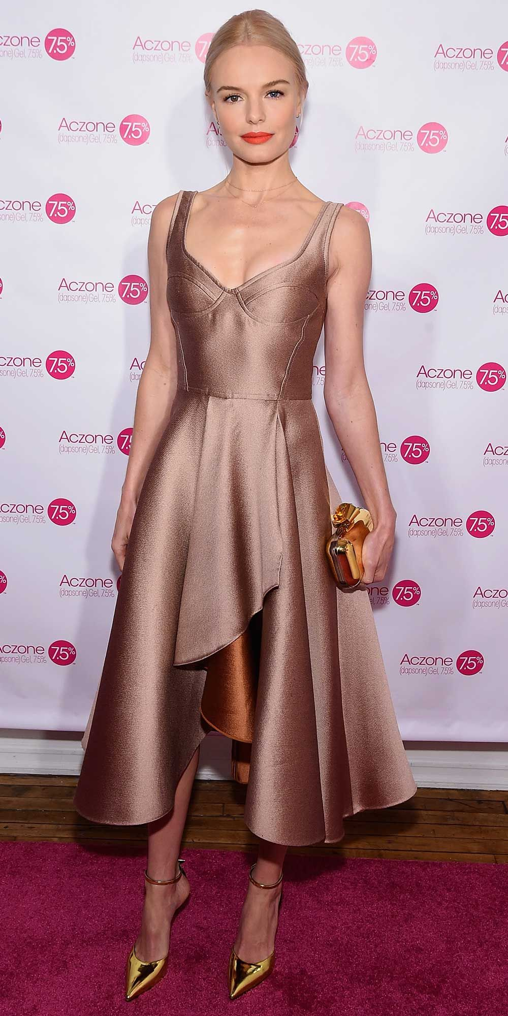 Kate bosworth looks like a reallife princess in a rose gold jason