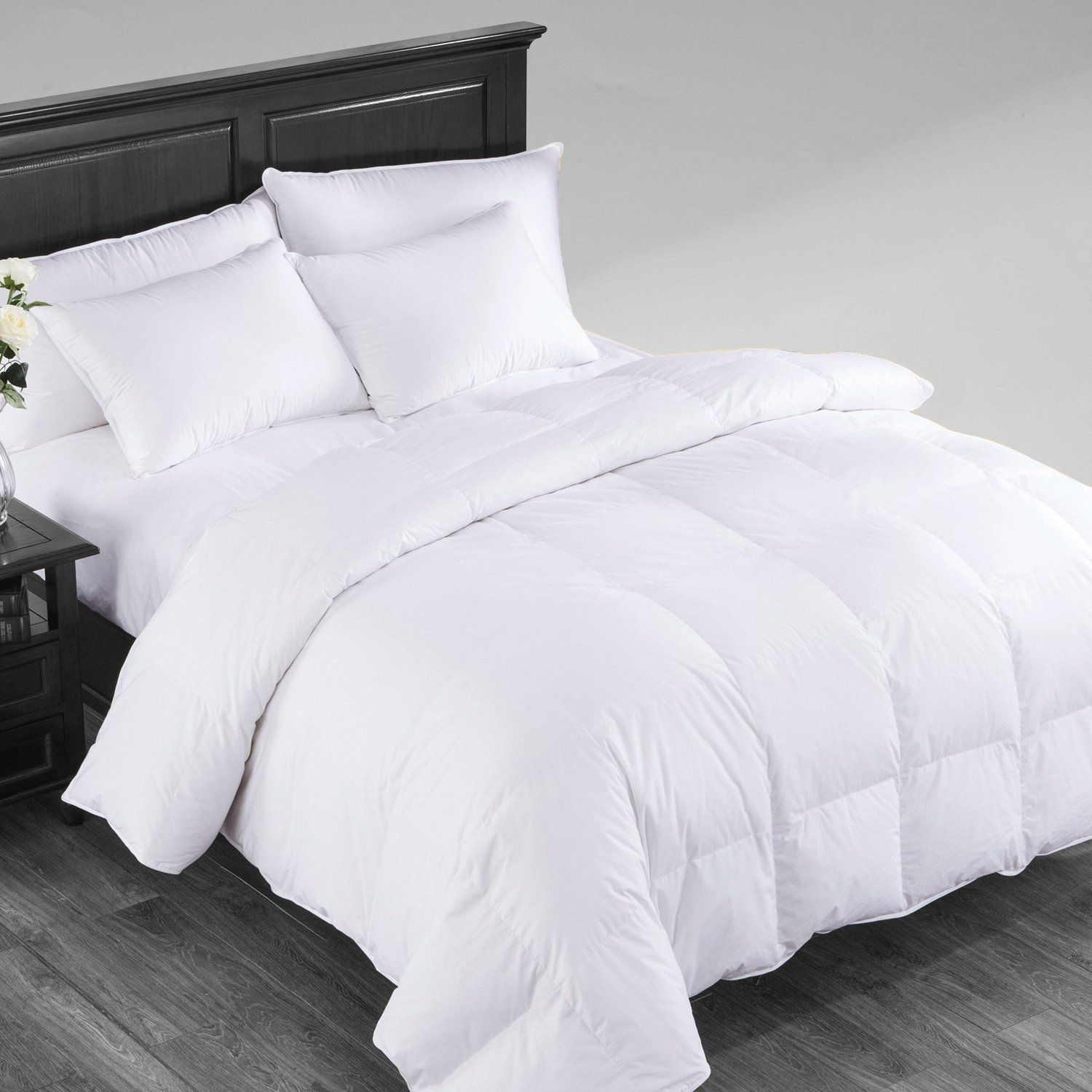 Puredown All Baffle Box Design Duvet Insert 700 Filling Power All Allseason Down Comforter Full Queen White Down Comforter White Down Comforter Guest Room Bed