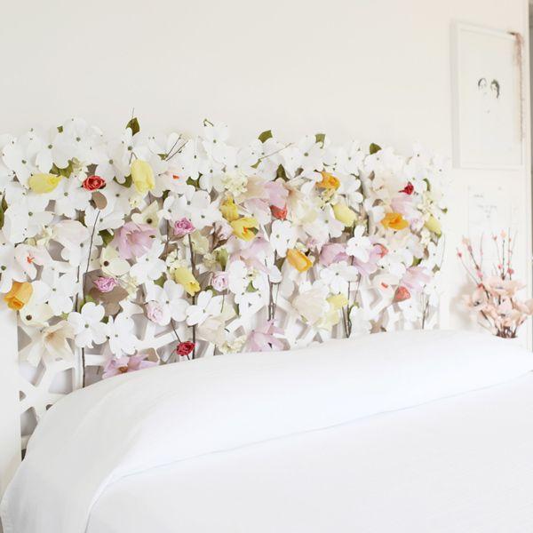 Paper Flower Headboard Project By Bri Emery Designlovefest