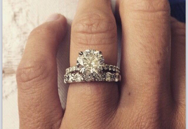Eva shockeys engagement ring and wedding band. -Pin for engagement ring-