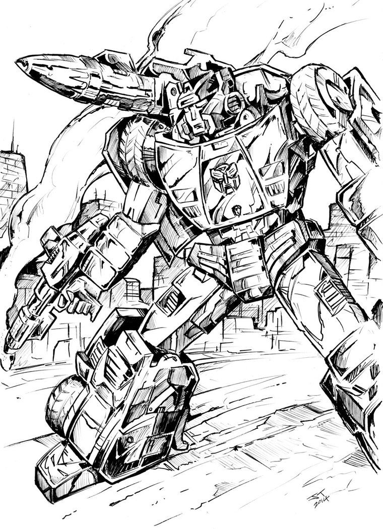 Sideswipe By Joeteanby Colouring Pages Comics Art