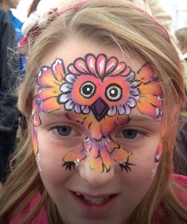 owl face paint face painting pinterest verkleiden kinderschminken und eule. Black Bedroom Furniture Sets. Home Design Ideas